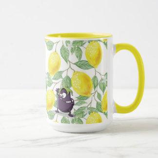 La berenjena perdió en un árbol de limón la taza
