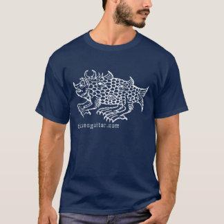 La bestia de los pescados ama la guitarra de camiseta