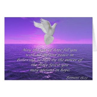 La biblia de la esperanza del 15:13 de los romanos tarjeta de felicitación
