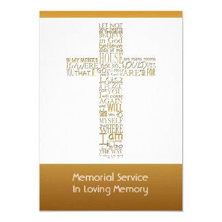 La biblia de oro versifica la ceremonia invitación 12,7 x 17,8 cm