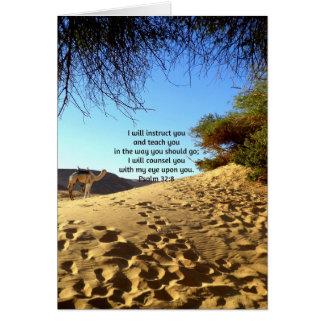 La biblia versifica 32 8 inspirado del salmo de la tarjeta