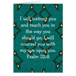 La biblia versifica 32:8 inspirado del salmo de la tarjeta