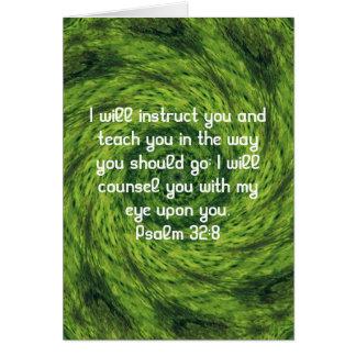 La biblia versifica 32 8 inspirado del salmo de la felicitaciones