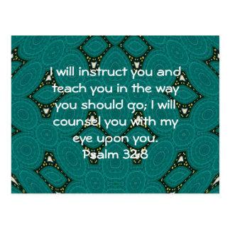 La biblia versifica 32:8 inspirado del salmo de la postal