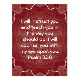 La biblia versifica 32 8 inspirado del salmo de la postales