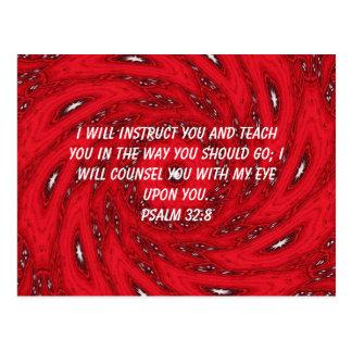 La biblia versifica 32 8 inspirado del salmo de la tarjeta postal