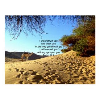 La biblia versifica 32:8 inspirado del salmo de la tarjeta postal