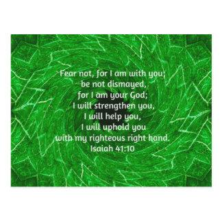 La biblia versifica el 41:10 inspirado de Isaías d Postales