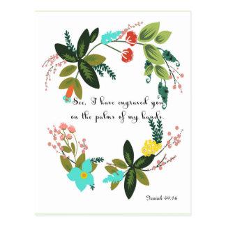La biblia versifica el arte - 49:16 de Isaías Postal
