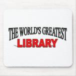 La biblioteca más grande del mundo tapetes de ratones
