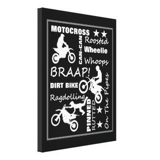 La bici de la suciedad del motocrós se divierte lienzo