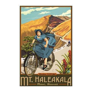 La bicicleta del Mt. Haleakala monta Hawaii Impresión En Lona