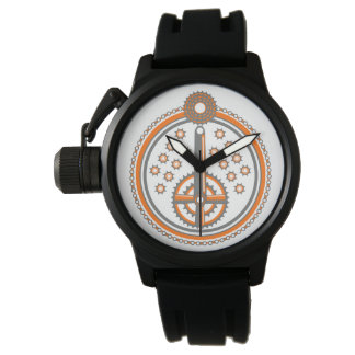 La bicicleta parte el ejemplo reloj de pulsera