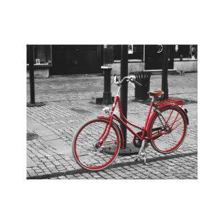 La bicicleta roja impresión en tela