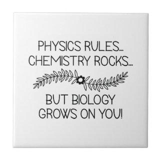 La biología crece en usted azulejo