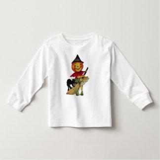 La blusa de manga larga del niño de la bruja de la camisetas