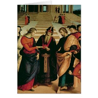La boda de la Virgen, 1504 Tarjeta De Felicitación
