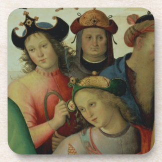 La boda de la Virgen, detalle de los pretendientes Posavasos