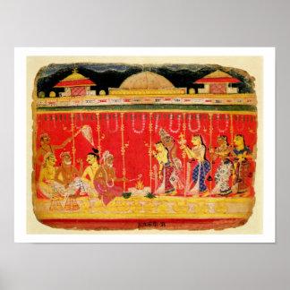 La boda de los padres de Krishna, de una dispersió Póster