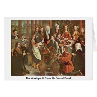 La boda en Cana. Por Gerard David Tarjeta De Felicitación