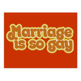 La boda es tan gay postal