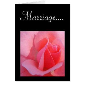 La boda es…. tarjeta de felicitación