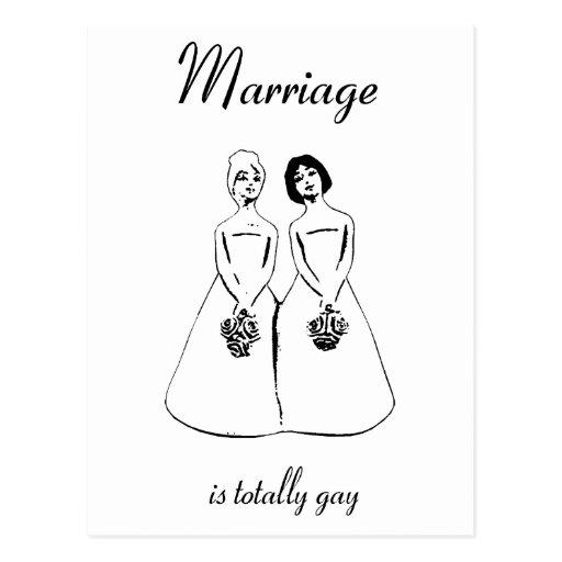 La boda es totalmente gay - los pares femeninos tarjetas postales