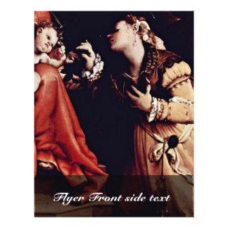 La boda mística de St. Catherine de Siena De Flyer A Todo Color