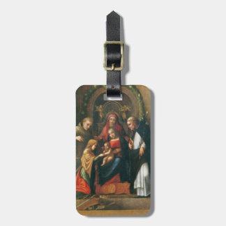 La boda mística del santo Catherine Etiquetas Para Maletas