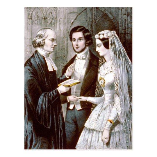 La boda - votos postal