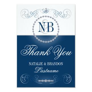 La bodas de plata azul y le agradece las tarjetas invitación 8,9 x 12,7 cm