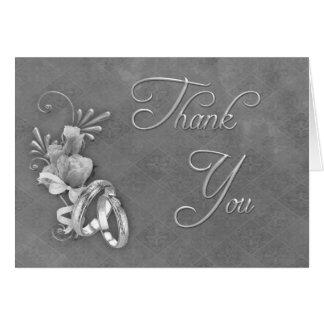 La bodas de plata le agradece tarjetón