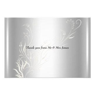 La bodas de plata popular le agradece invitaciones personalizada