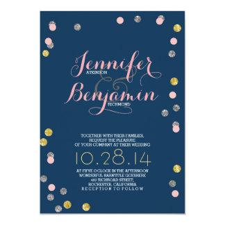 La bodas de plata rosada y del oro invita invitación 12,7 x 17,8 cm