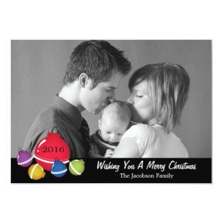 La bola anticuada del navidad adorna tarjetas de invitación 12,7 x 17,8 cm