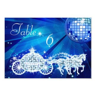La bola de discoteca, princesa Coach y el doble de Invitación 8,9 X 12,7 Cm