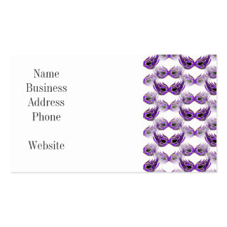 La bola de mascarada púrpura bonita enmascara carn tarjeta de negocio