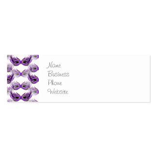 La bola de mascarada púrpura bonita enmascara carn tarjeta de visita