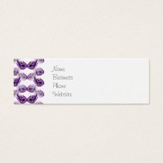 La bola de mascarada púrpura bonita enmascara tarjeta de visita pequeña