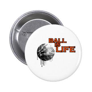 La bola es vida chapa redonda de 5 cm
