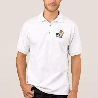 La bola N remite   baloncesto Camisa Polo