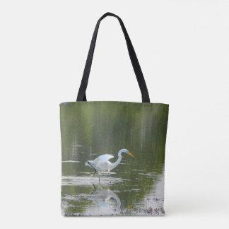 La bolsa de asas agraciada del Egret