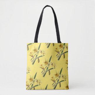 La bolsa de asas amarilla de los narcisos de la