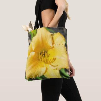 La bolsa de asas amarilla del lirio
