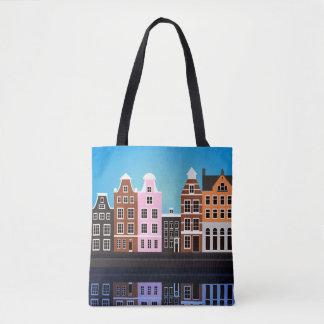 La bolsa de asas Amsterdam de la impresión del