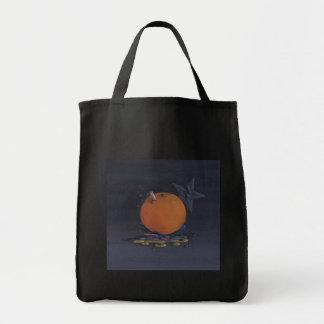 la bolsa de asas anaranjada