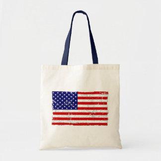 La bolsa de asas apenada de la bandera americana