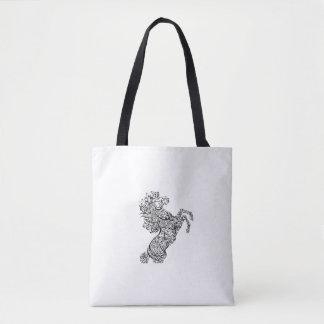 La bolsa de asas árabe de la caligrafía