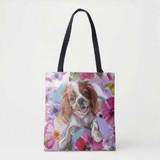 La bolsa de asas arrogante del arte del perro del