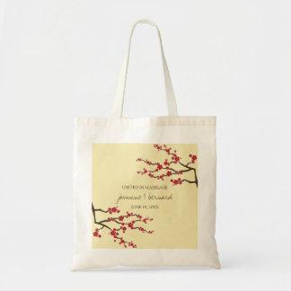 La bolsa de asas asiática del boda de las flores